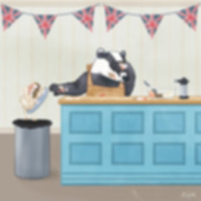 A badger baking in the in The Great British Bake Off