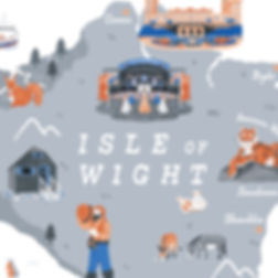 Illustrated map of the Isle of Wigh