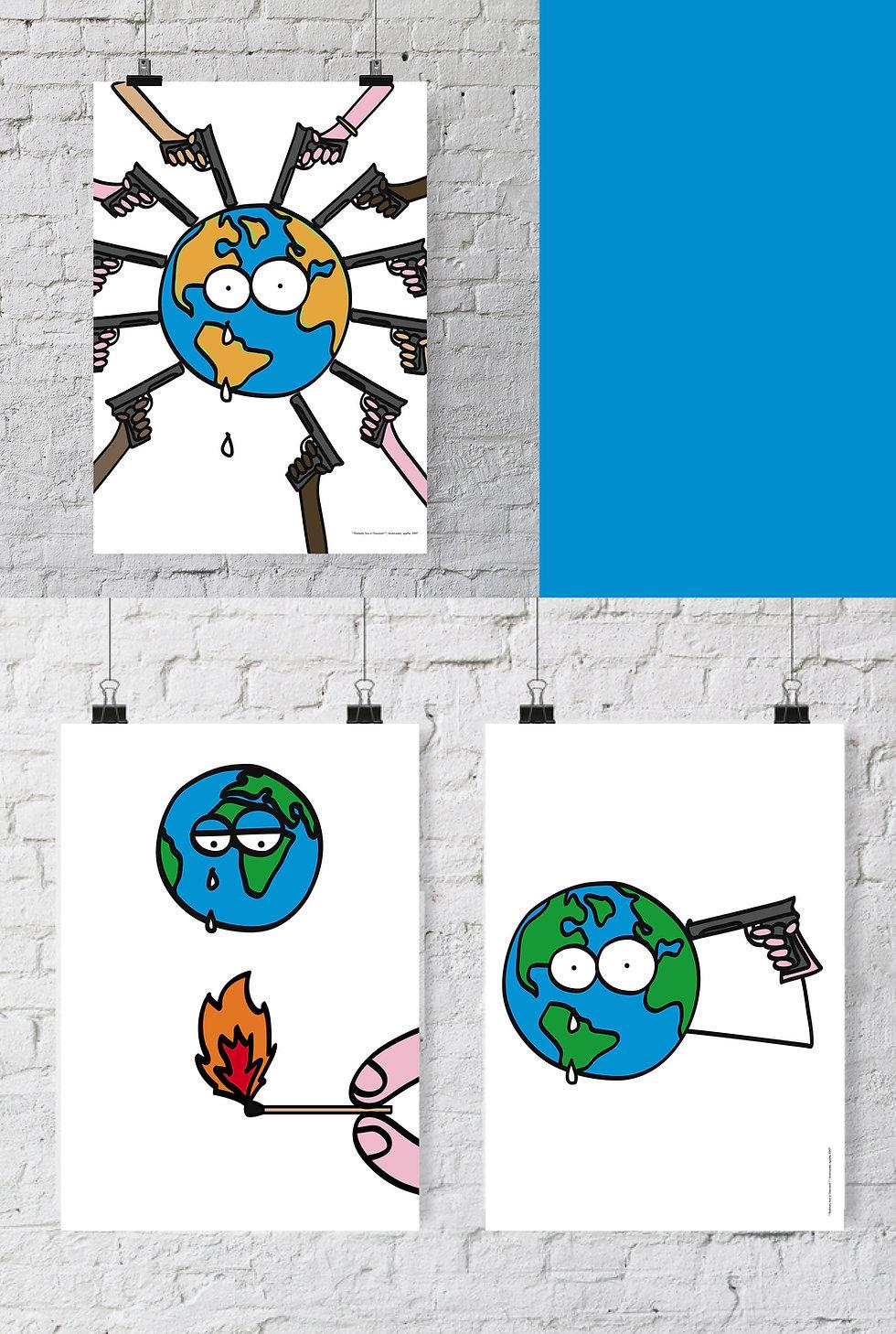 Affiche Réchauffement Climatique Chaumont / septième PIXEL.