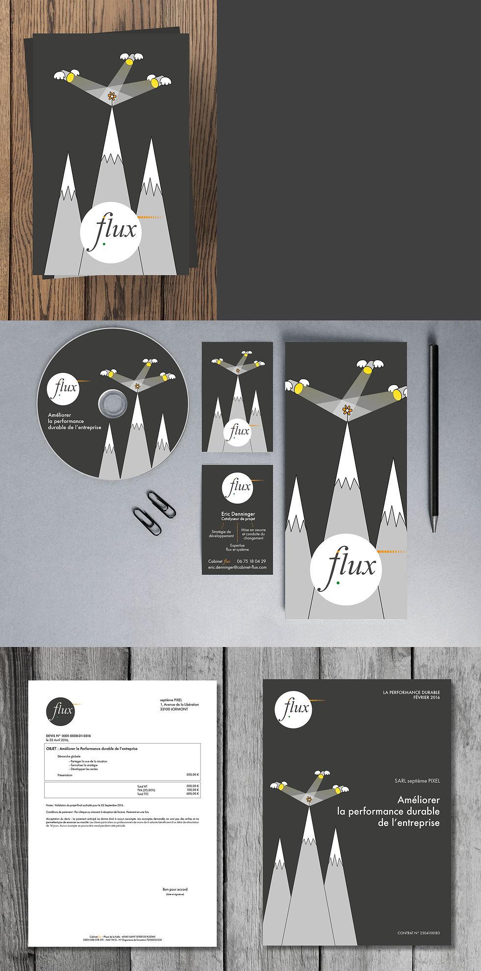Identité visuelle FLUX  / septième PIXEL
