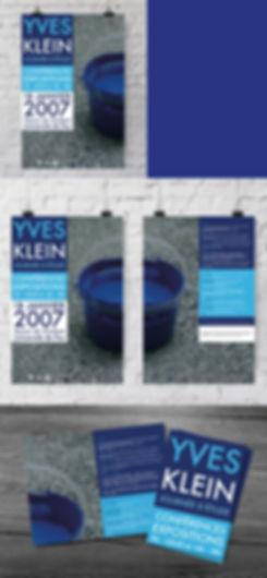 Identité visuelle journée d'étude Yves Klein / septième PIXEL.
