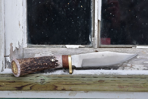 Bowie with antler handle