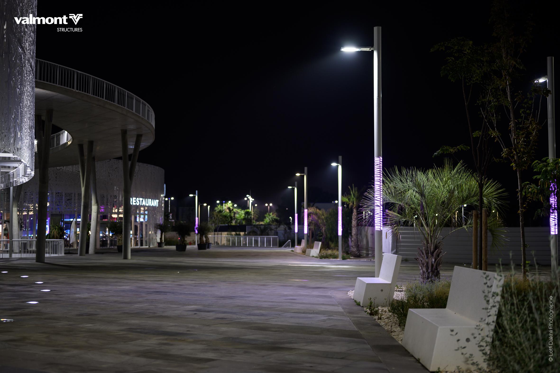 Jalousie Colonne Lumineuse Duprat Tecso Eclairage Public Smart City