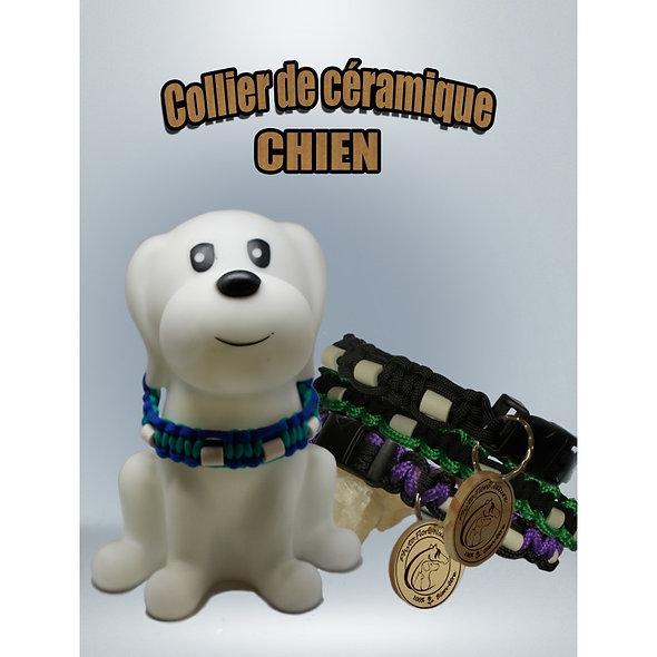 Colliers perles céramiques unis pour chiens