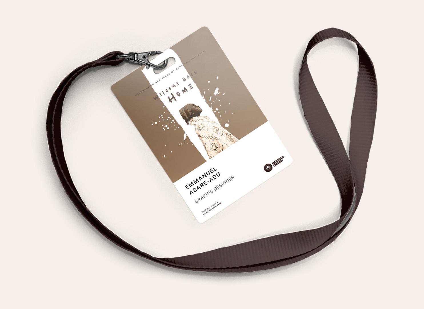 Year of Return Staff Badge Identity Card