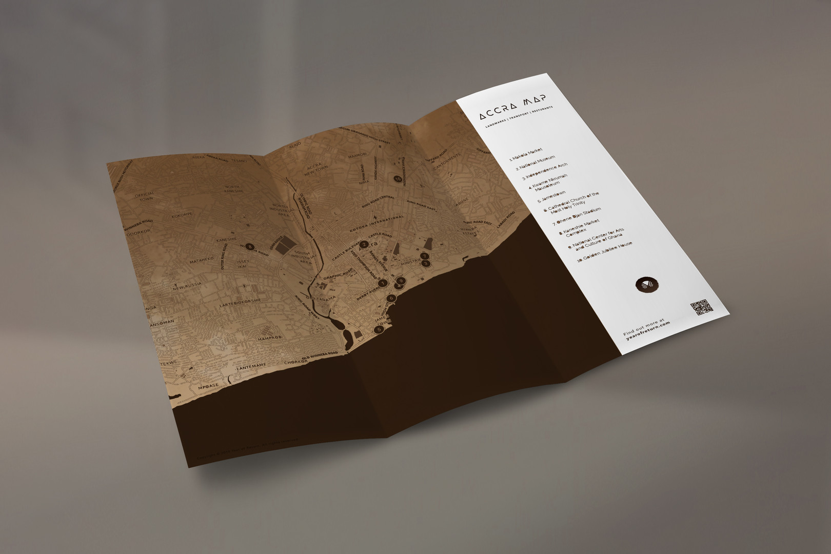 Year of Return Trifold Brochure Mock-Up