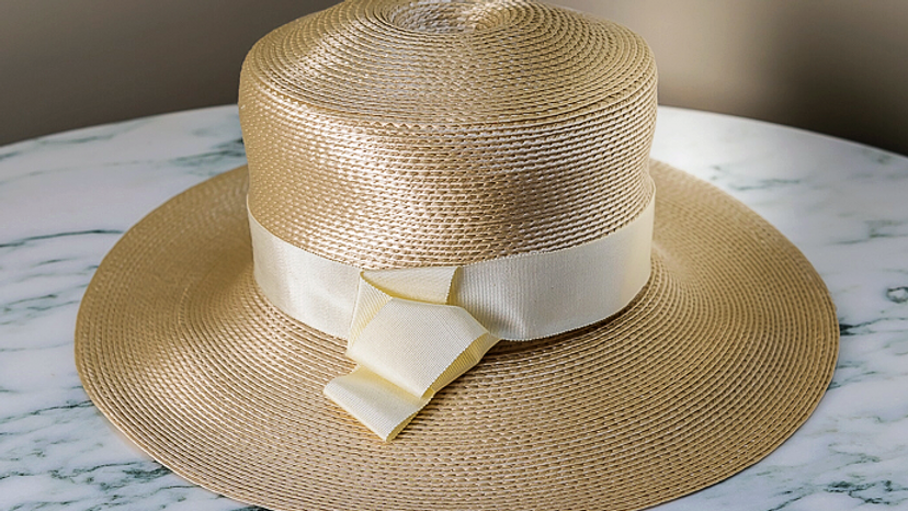 Cream Strawbraid Fedora