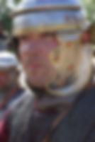 légionnaire romain de l'empire avec casque impérial italien