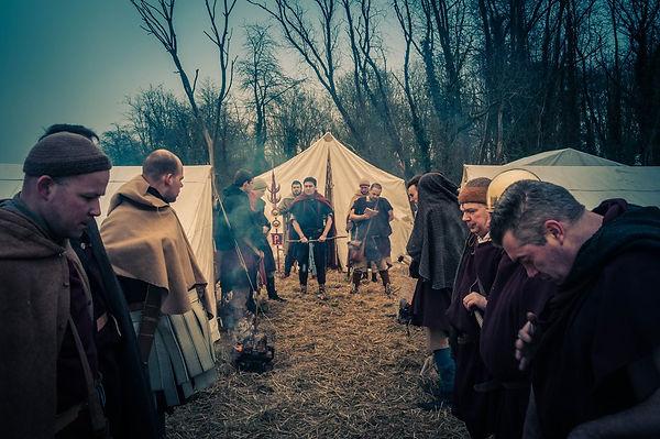 Camp de l'armée romaine pendant l'apelatio