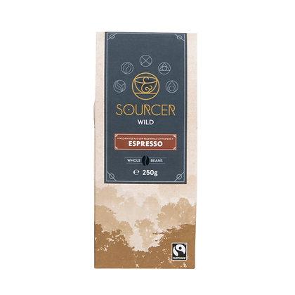 """Sourcer """"Wild"""" Arabica 250g ganze Bohnen (31,84€/kg)"""