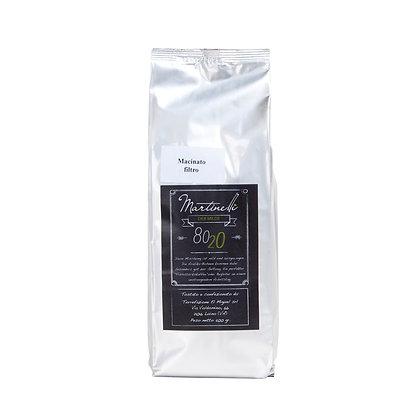 80/20 500g Filterkaffee gemahlen (22,00€/kg)