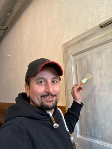 Auch der Chef malt