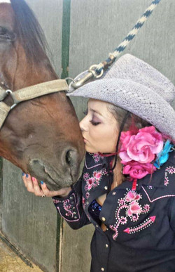 Angelica with her horse