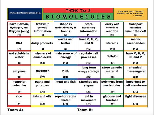 Biomolecules Think-Tac-Three