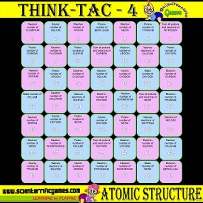 Think-Tac-4 Atomic Structure