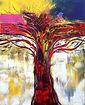 392.L'albero della vita 3 100x80 acr. su