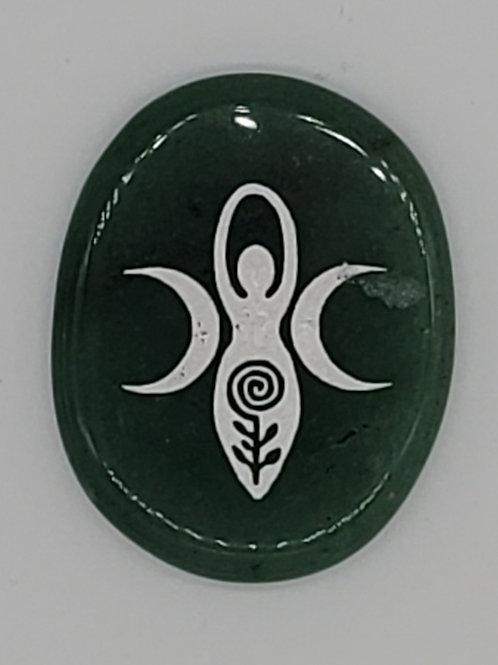 Palm Stone Green Aventurine Goddess