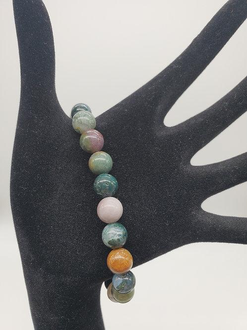 Fancy Jasper Round Bead Stone Bracelet
