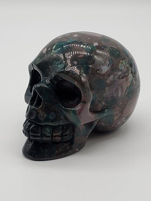 Green Ocean Jasper Skull