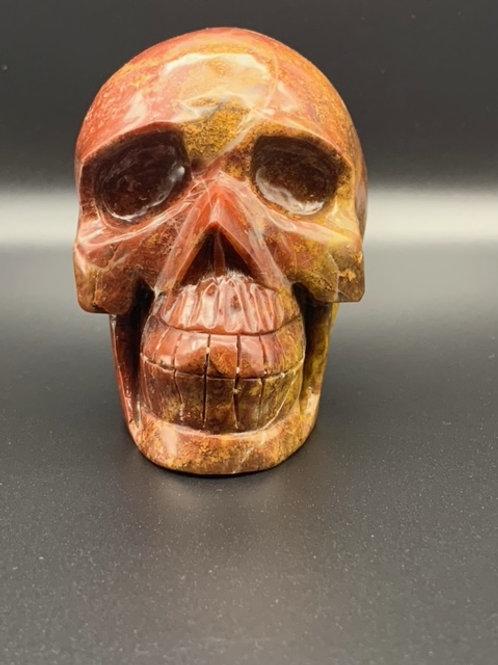 Red Ocean Jasper Skull