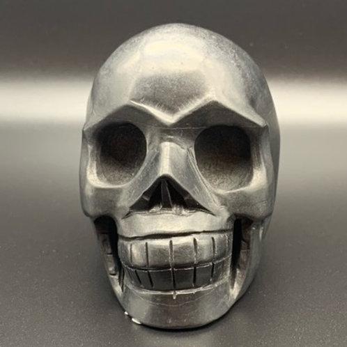 Shungite Skull