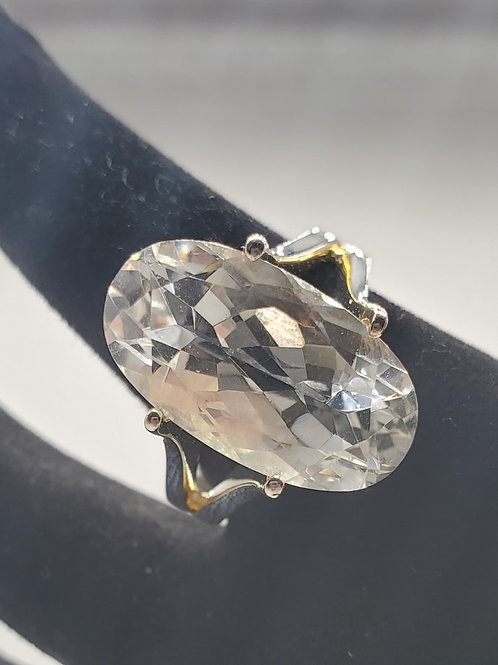 Oval Herkimer Ring