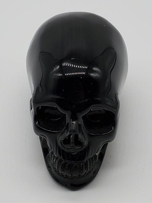 Black Obsidian Elongated Skull