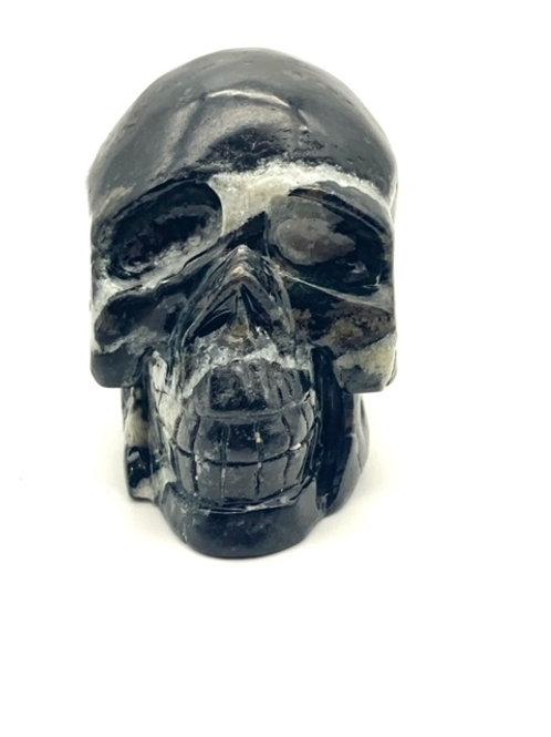 Zebra Agate Skull