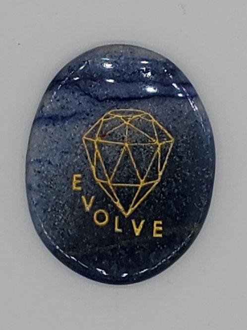 Blue Aventurine Palm Stone (Evolve)