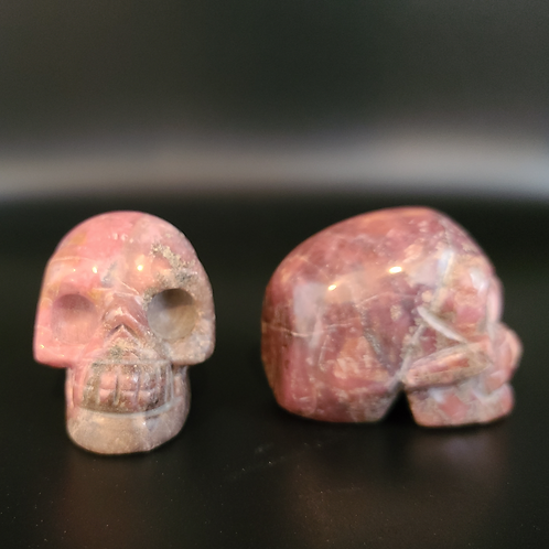 Rose Rhodonite Mini Skull