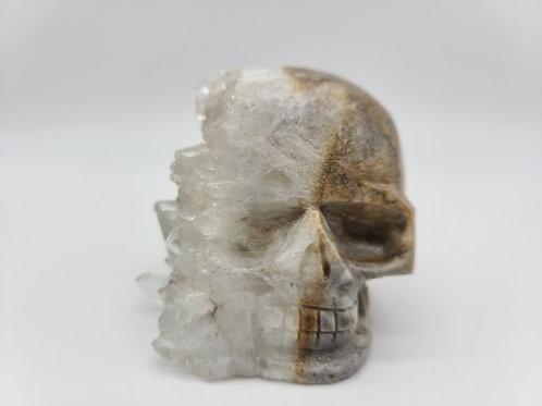 Hand Carved Quartz Cluster Skull