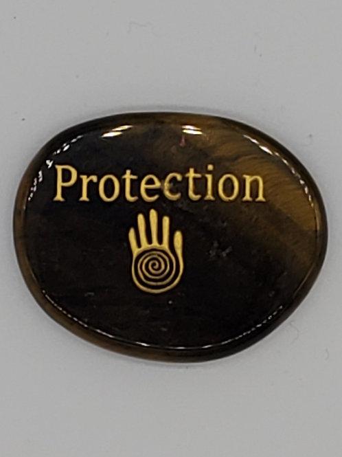 Palm Stone Tiger Eye Protection