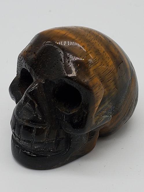 Tigers Eye Mini Skull