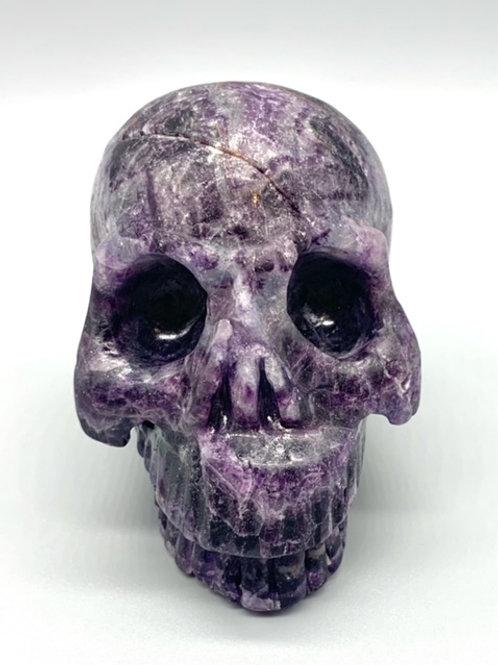 Fluorite Jawless Skull