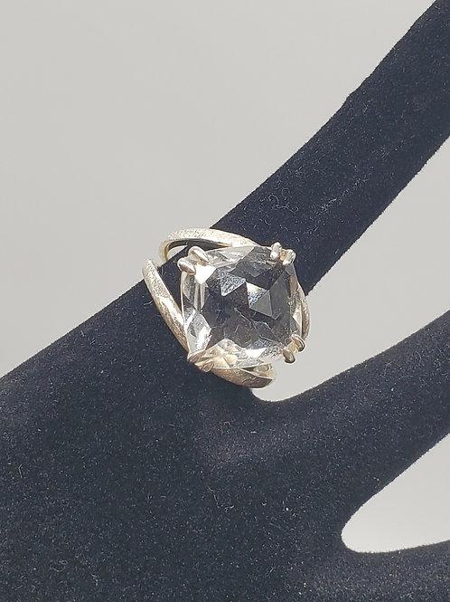 Rose Top Herkimer Ring