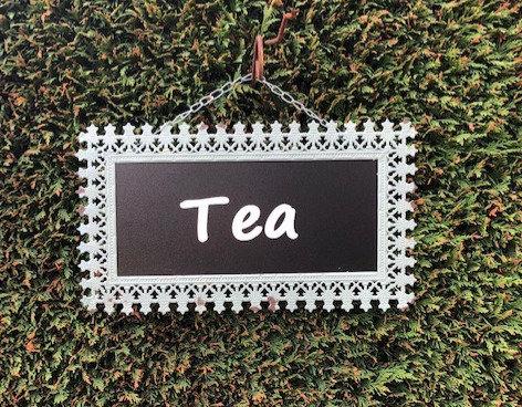 Metal Frame Tea Sign