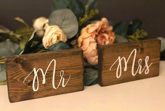Mr. & Mrs. Head Table Signs
