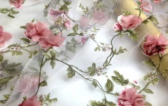 Floral Chiffon Drapery