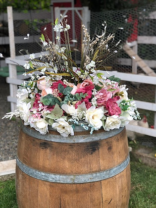 Wine Barrel Topper Flowers