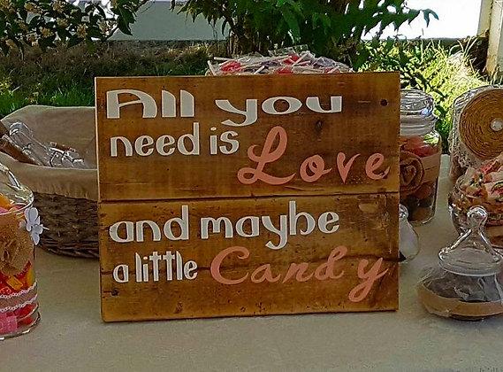 Candy Bar Sign