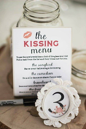 The Kissing Menu
