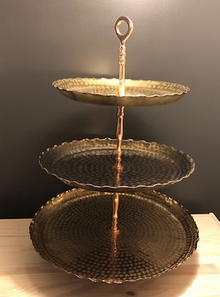 Large Gold/Copper Desert Stand