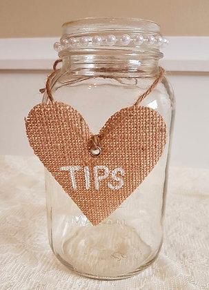 1L Mason Jar- Tips