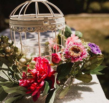 Flower Wreath w/ Bird Cages