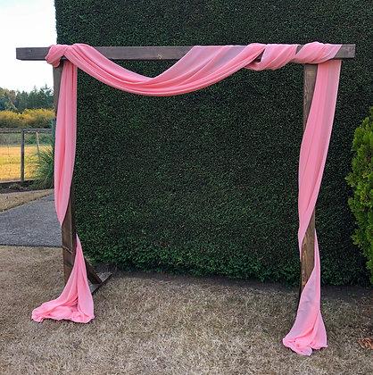 Pink Chiffon Drapery