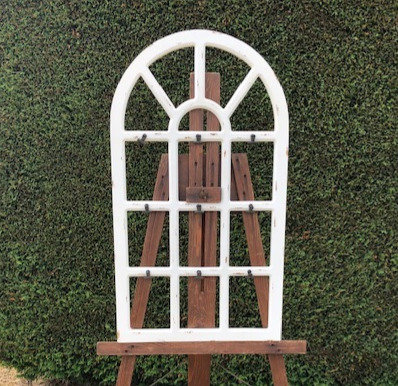 Antiqued Wood Frame Seating Chart