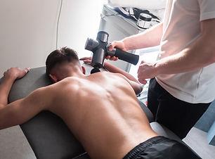 Therapist Treating Injury of Professiona