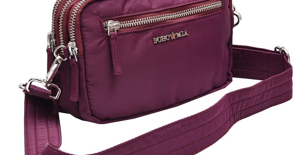 All-rounder (Wine) - Belt Bag/Clutch/Sling Bag