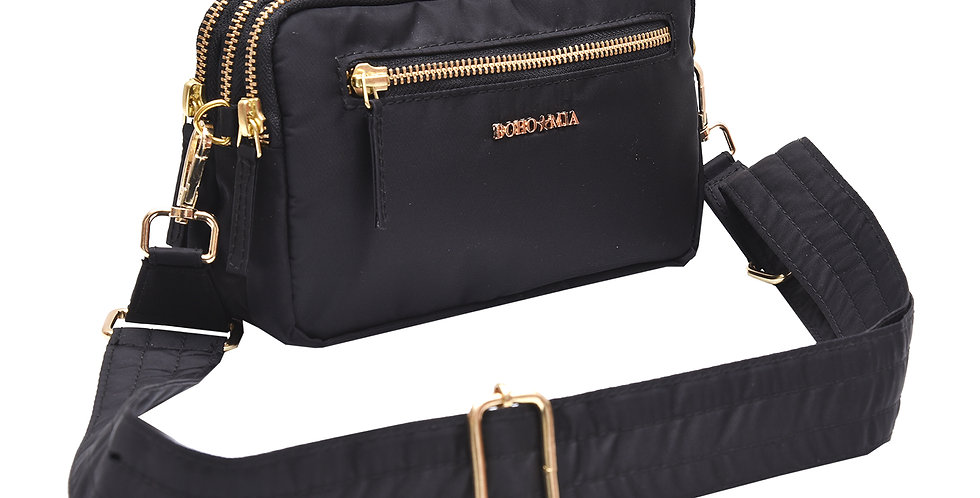 All-Rounder(Black)- Belt Bag/Clutch/Sling Bag