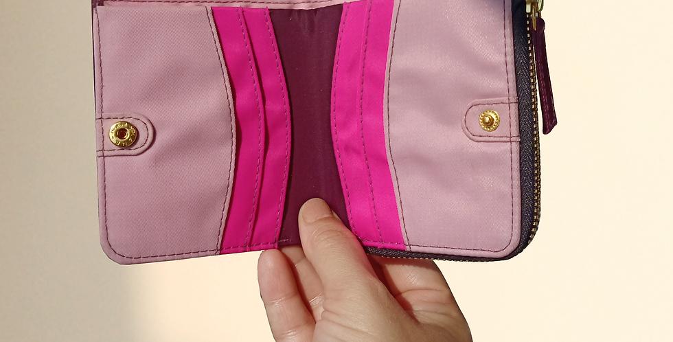 Bohomia Pocket Wallet (Wine & Light Pink)